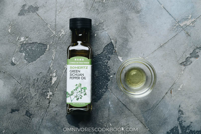Sichuan peppercorn oil