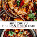 An authentic Shui Zhu Yu (Spicy Sichuan Boiled Fish) recipe that recreates the ultra aromatic, numbing, spicy sensation you would experience in China.