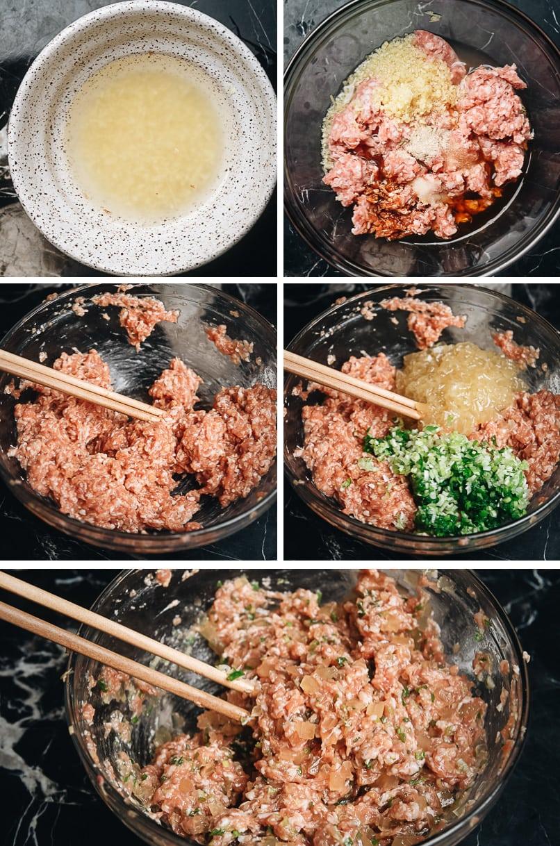 How to make soup dumpling filling