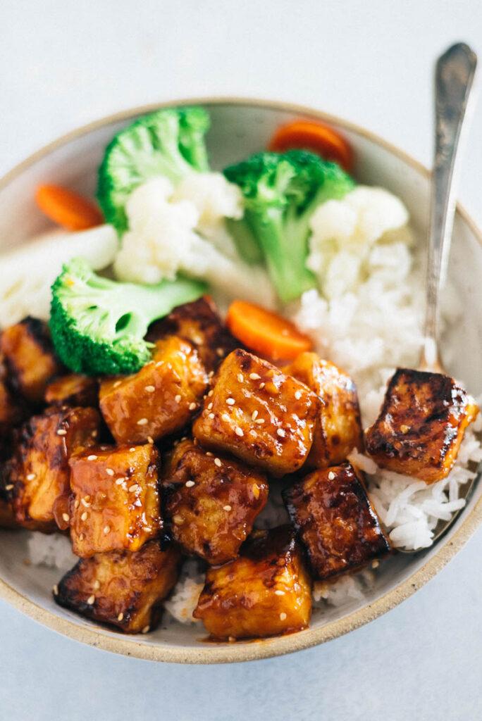 Crispy Tofu with Sweet and Sour Sauce
