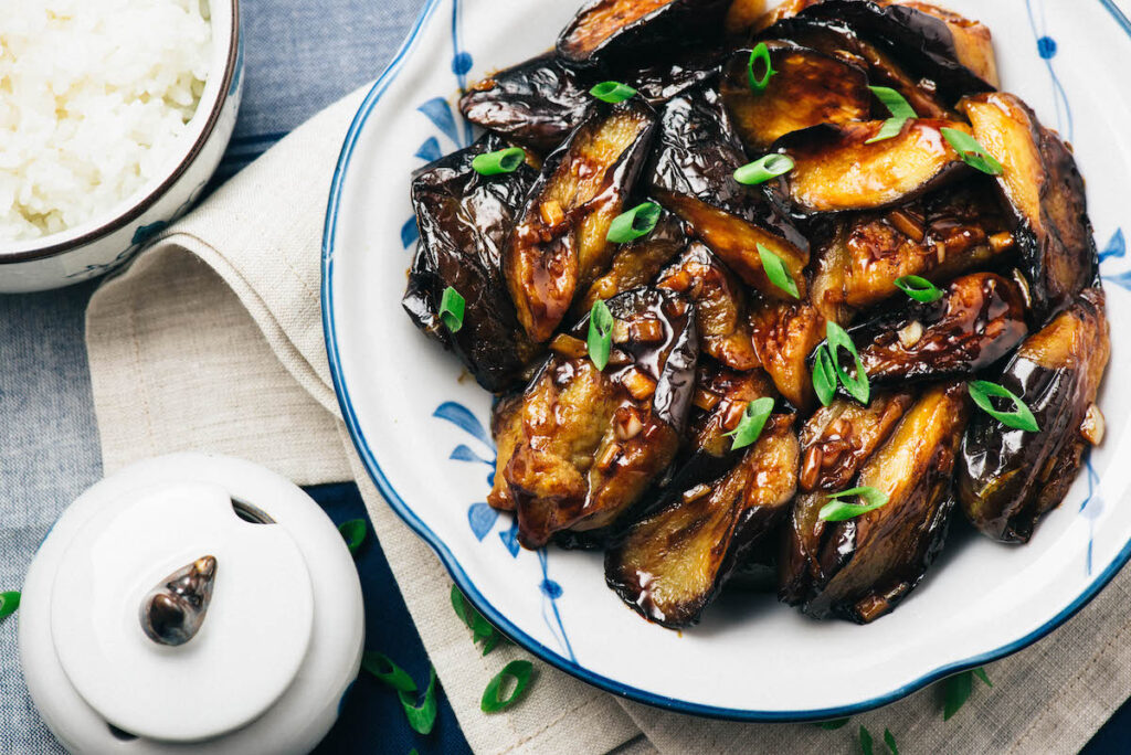 Crispy Eggplant in Garlic Sauce