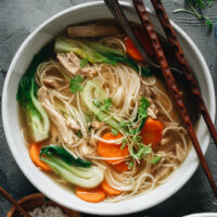 Full of fresh aromatics and flavors, this Chinese chicken noodle soup will warm you through and through on chilly days and comfort you when you're feeling under the weather.