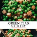 This comforting, classic Shanghai dish - green peas stir fry - is quick, easy, and absolutely satisfying served as a side or a main dish!