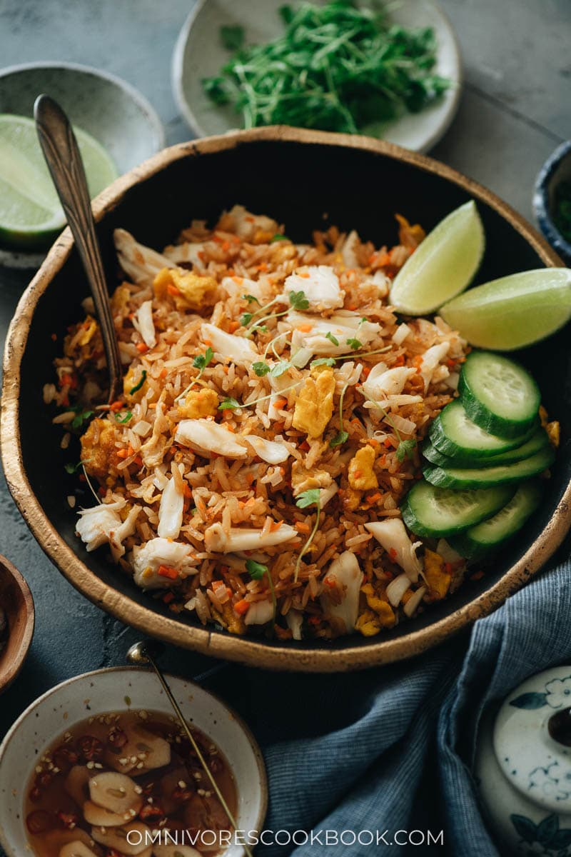 Thai rice with crab and eggs