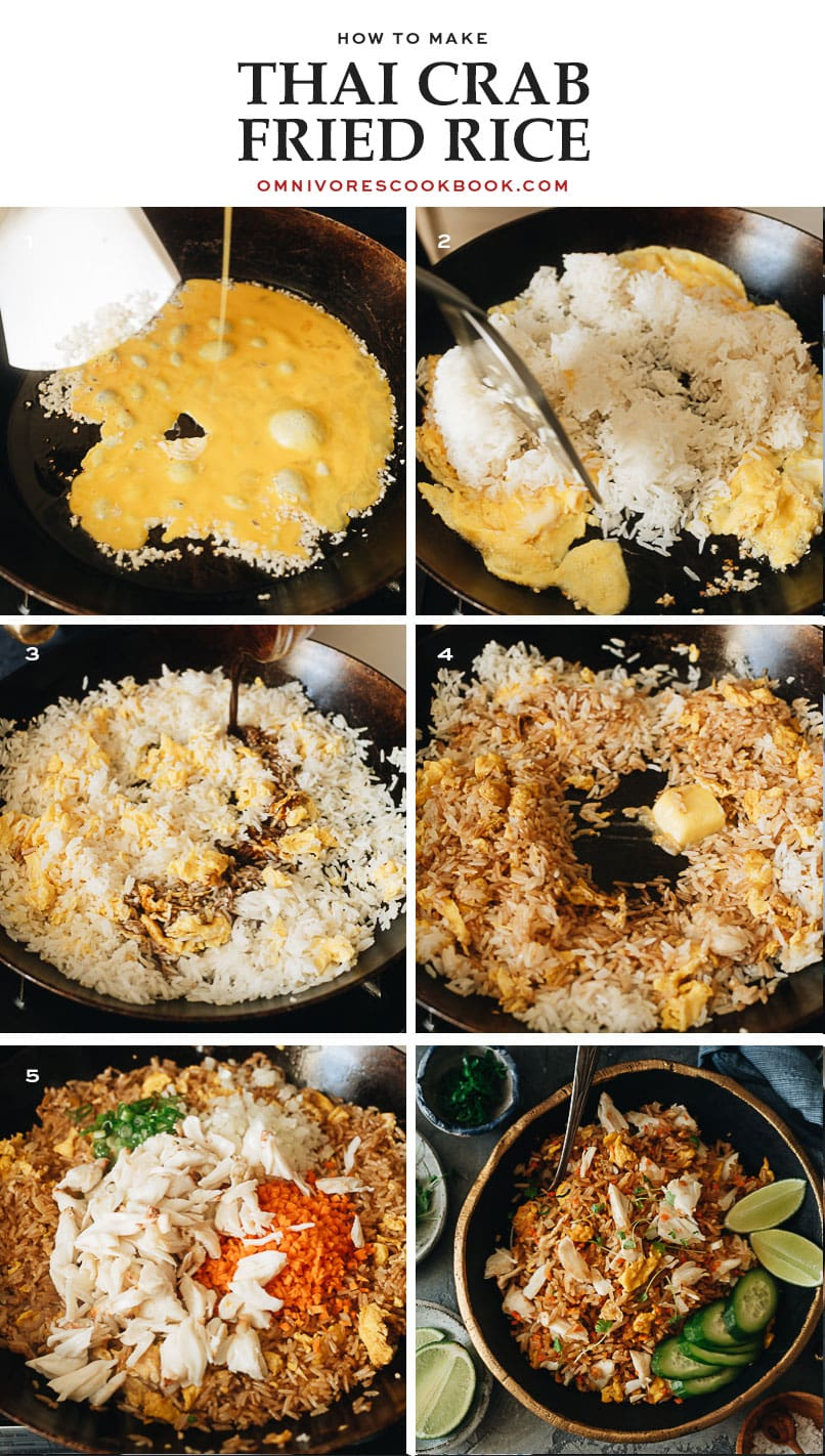 How to make crab fried rice step-by-step