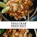 For something ultra-delicious in minutes, try this crab fried rice for a one-pan meal that is bursting with delicate seafood flavor! {Gluten-Free adaptable}