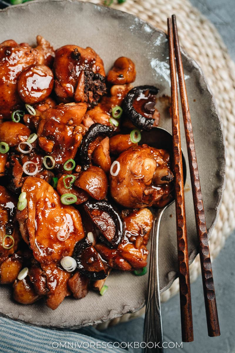 Shanghai braised chicken with chestnut