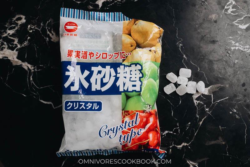 Rock sugar in package