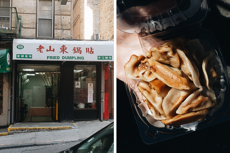 Fried Dumplings in Manhattan Chinatown