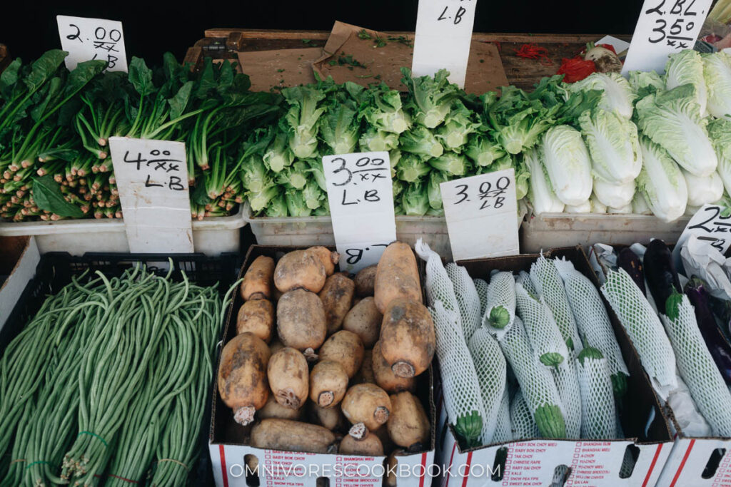 Manhattan Chinatown - Chinese vegeteables