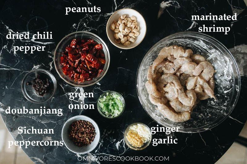 How to prep for Sichuan shrimp stir fry