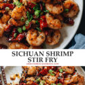 Authentic Chinese restaurant-style Sichuan shrimp is quick enough for a weeknight meal and delivers a crispy texture and richly aromatic, utterly divine flavor with that signature Sichuan spice.