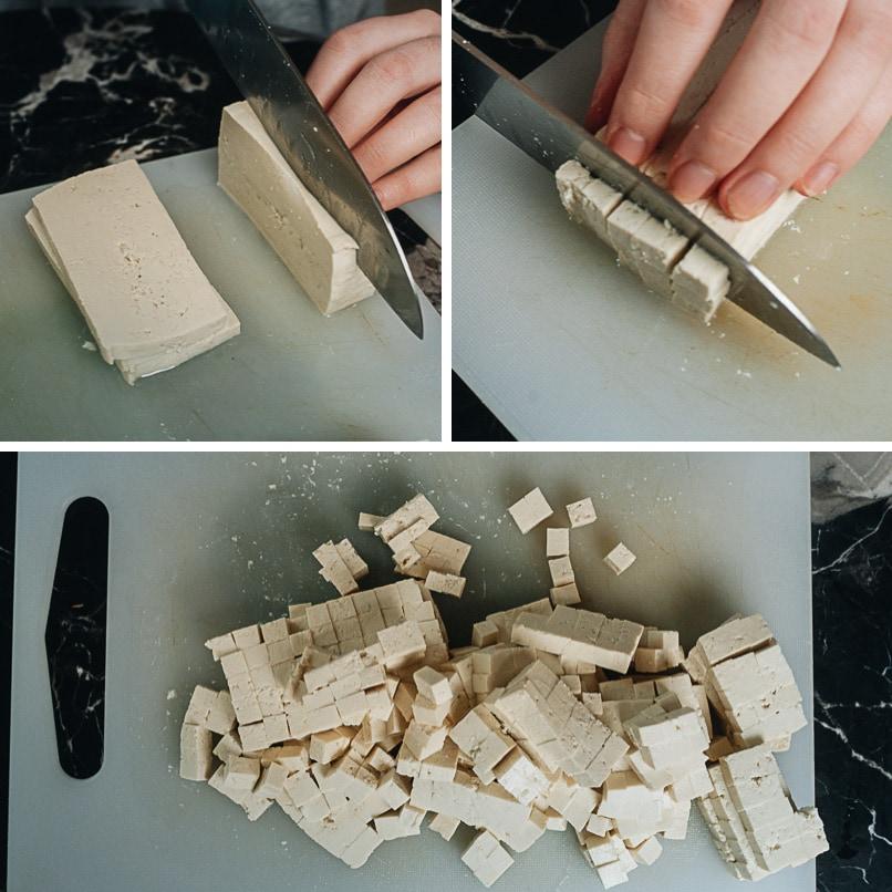 How to cut tofu