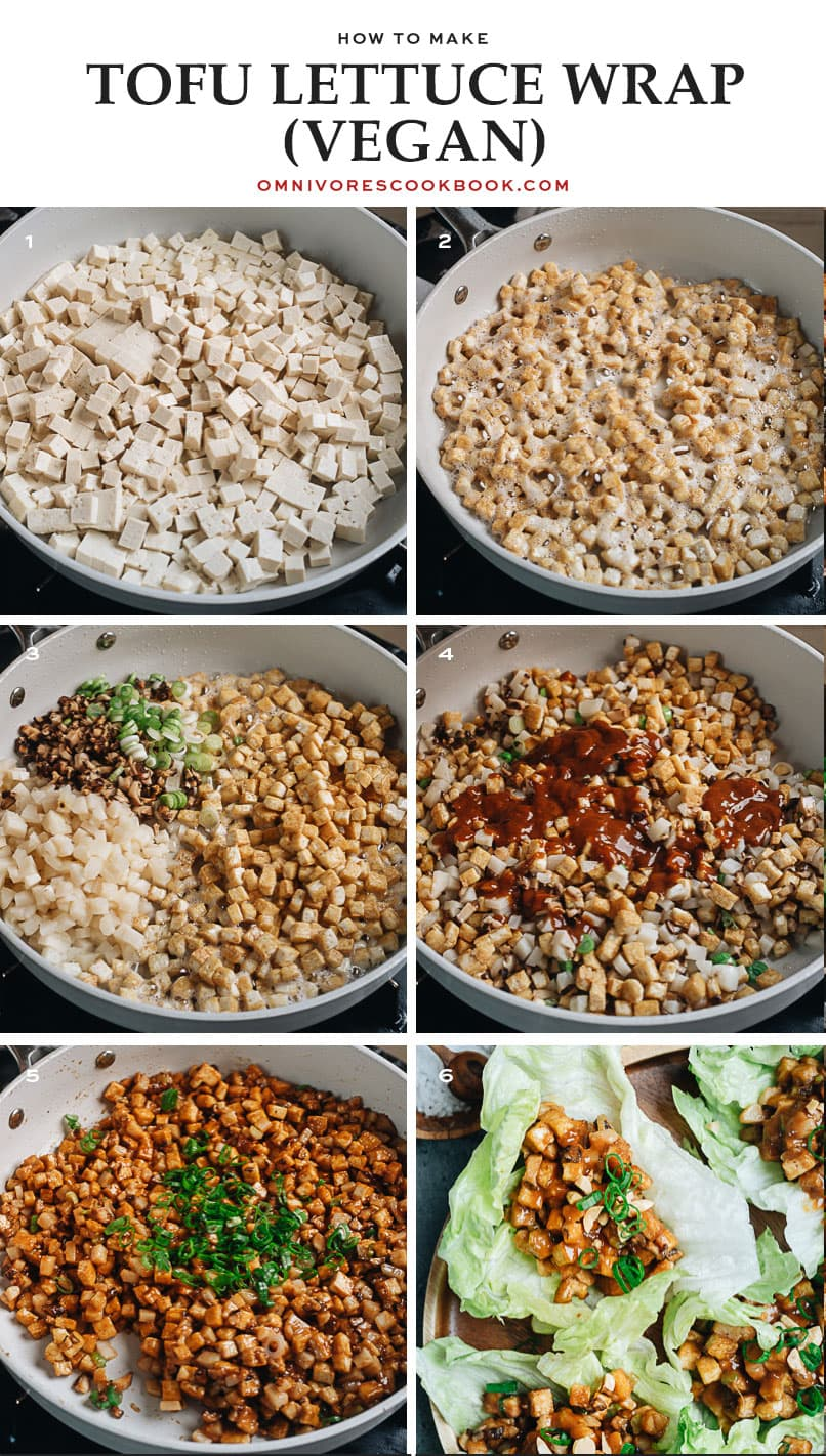 How to make tofu lettuce wraps step-by-step