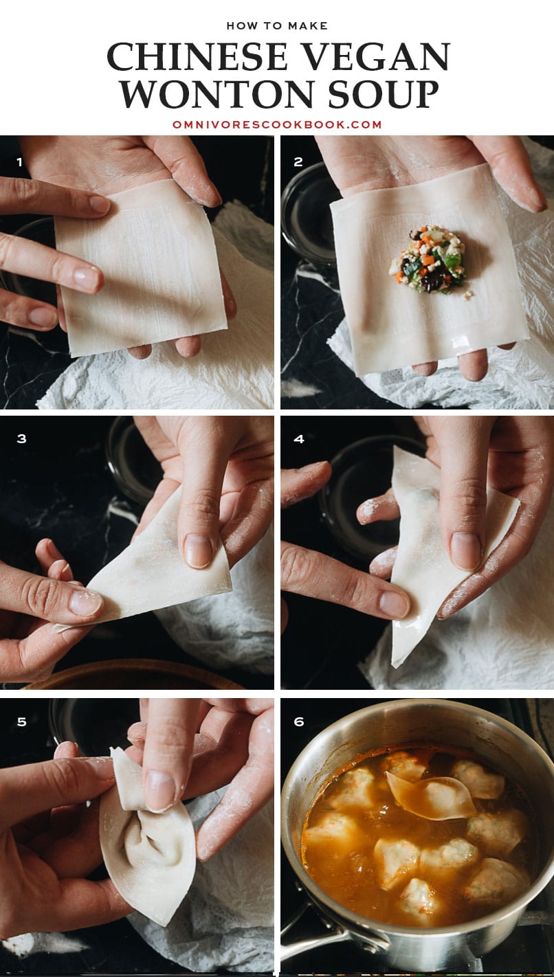 How to set up your wonton wrapping station
