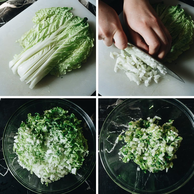 How to cut and dehydrate napa cabbage