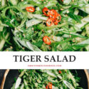 If you're looking for a super quick and easy veggie dish, make this authentic Chinese tiger salad for a tasty and refreshing addition to your meal!