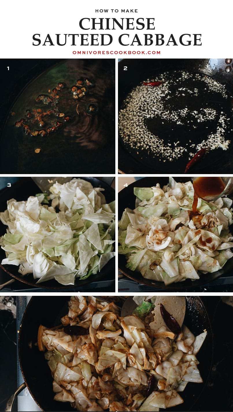 How to make Chinese Sauteed Cabbage