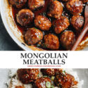 Tired of your usual meatball recipe? Try these Mongolian meatballs in a sweet, savory sauce that makes a quick and super-satisfying meal!