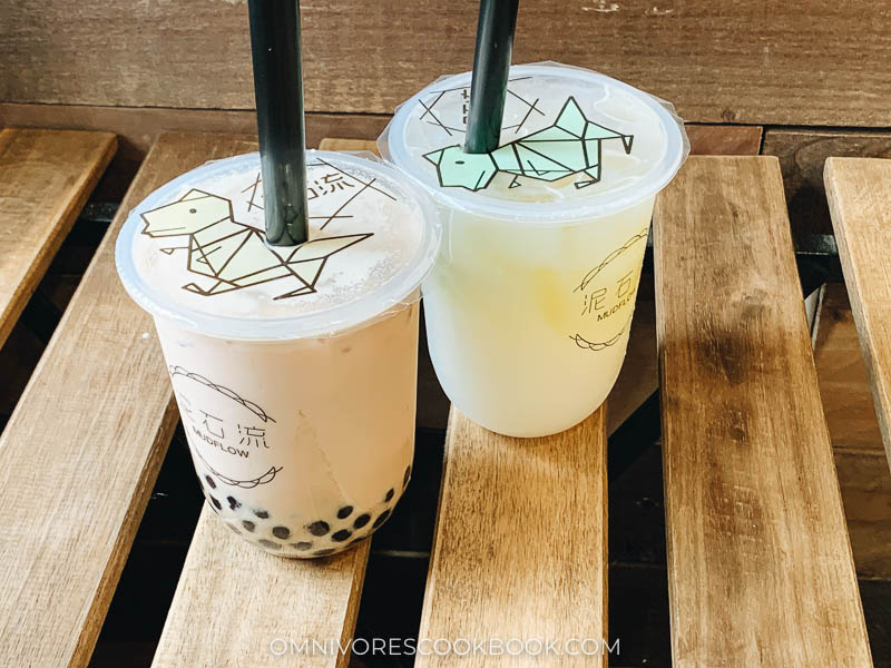 Bubble tea and other drinks at Mud Flow