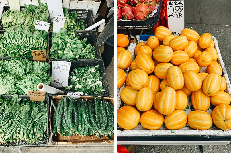 Produce in Suset Park Chinatown