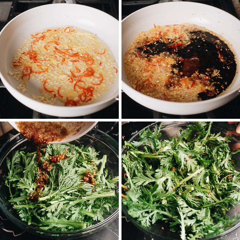How to make Chinese Chrysanthemum salad