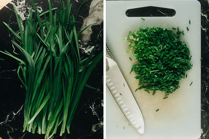 Chinese chives and how to cut them