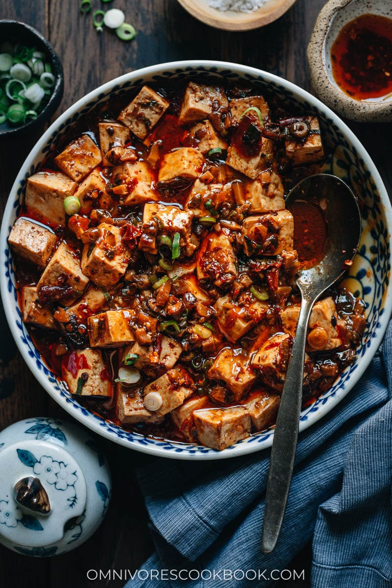 Chinese homestyle spicy vegan tofu
