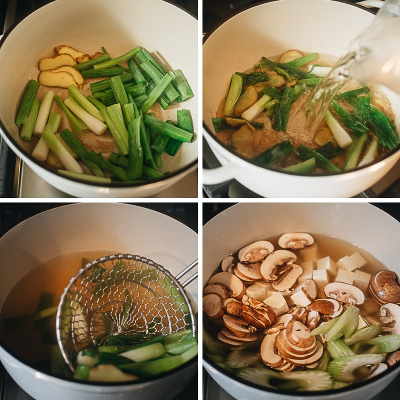 How to make Chinese vegetable soup step-by-step