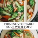 Make takeout in your home in just 10 minutes with this Chinese vegetable soup that's light and flavorful, yet hearty and comforting enough to fill you up! {Vegan, Gluten-Free}