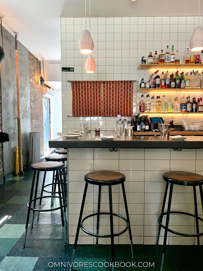 Bar area at Win Son Restaurant