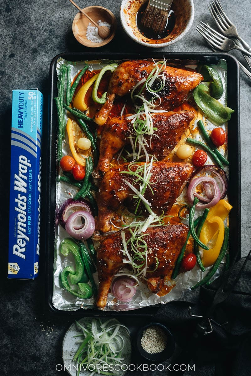 Asian honey soy glazed roast chicken
