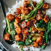 General Tso's Tofu over rice
